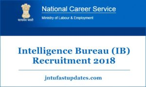 IB Security Assistant/Executive Recruitment 2018 Online Application Form Apply 1054 Posts @ mha.gov.in
