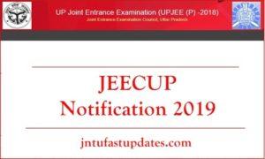 JEECUP Notification 2019