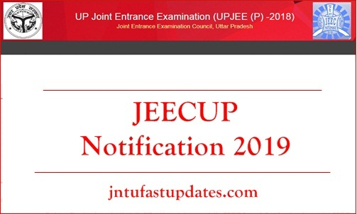 JEECUP Notification 2019