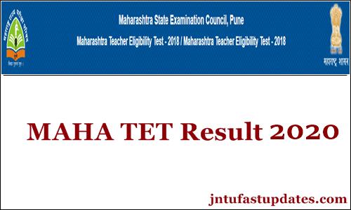 Maha Tet Result 2020