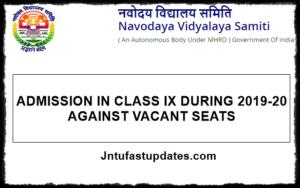 Navodaya 9th Class Admission Form 2019
