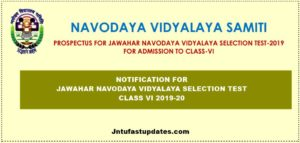 Navodaya Vidyalaya 6th Class Admission