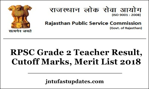 RPSC 2nd Grade Teacher Result 2018 Senior Cutoff Marks Merit List At Rpscrajasthangovin