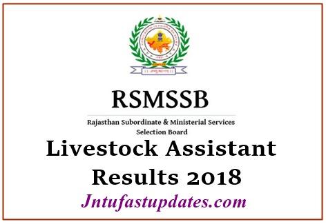RSMSSB Livestock Assistant Results 2018