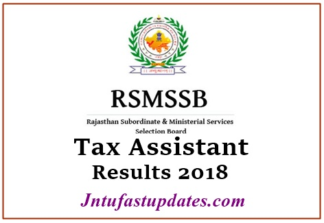 RSMSSB Tax Assistant Results 2018