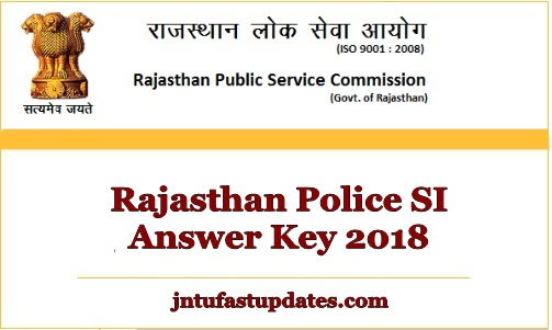 Rajasthan Police SI Answer Key 2018