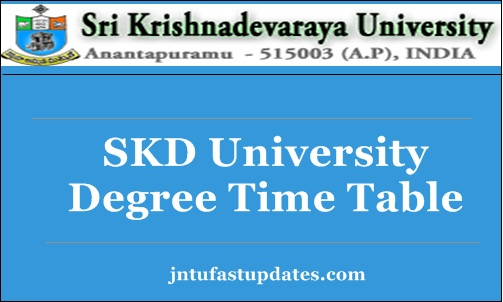SKU Degree Time Table 2018