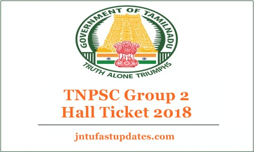 TNPSC Group 2 Hall Ticket 2018