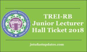 TREIRB Junior Lecturer Hall Ticket 2018