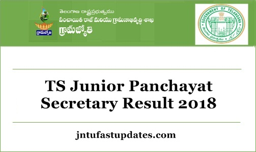 TS Junior Panchayat Secretary Results 2018