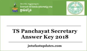 TS Panchayat Secretary Answer Key 2018