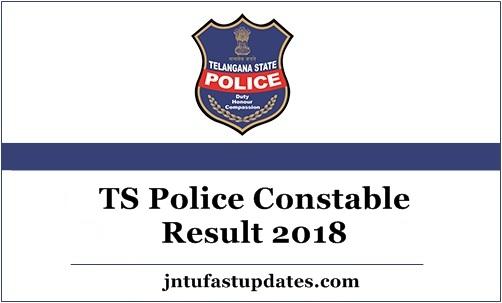 TS Police Constable Result 2018