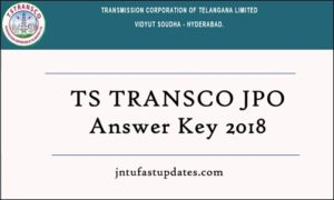 TS TRANSCO JPO Answer Key 2018