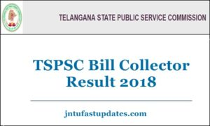 TSPSC Bill Collector Result 2018