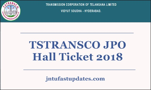 TSTRANSCO JPO Hall Ticket 2018.