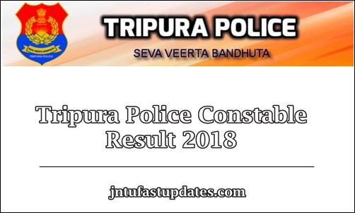 Tripura Police Constable Result 2018