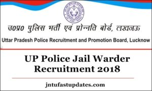 UP Police Jail Warder Recruitment 2018