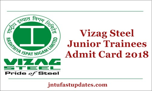 Vizag Steel Junior Trainee Admit Card 2018