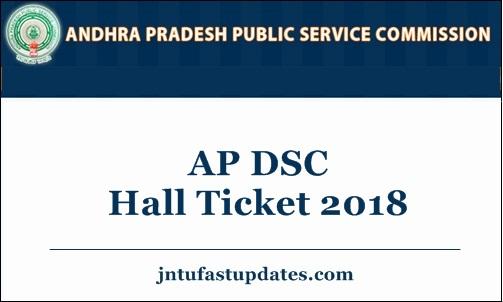 AP DSC Hall Ticket 2018