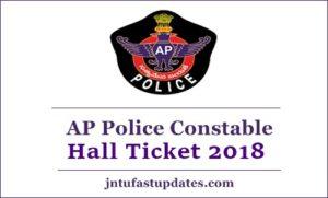 AP Police Constable Hall Ticket 2018