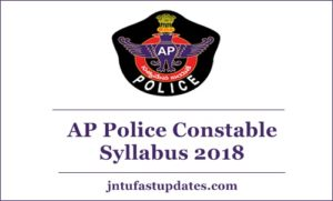 AP Police Constable Syllabus 2018