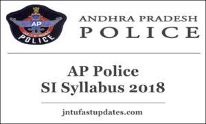 AP Police SI Syllabus 2018