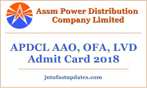 APDCL Field Assistant Admit Card 2018