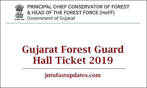 Gujarat Forest Guard Hall Ticket 2019