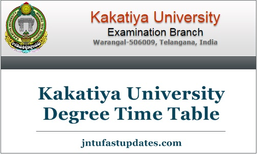 Kakatiya University Degree Time Table Dec 2018