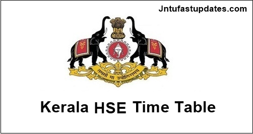 Kerala-hse-time-table-2019