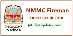 NMMC Fireman Result 2018