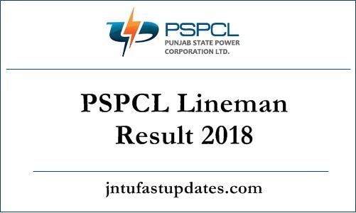 PSPCL Lineman Result 2018
