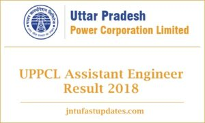 UPPCL Assistant Engineer Result 2018