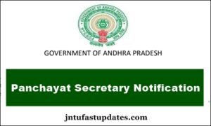 APPSC-Panchayat Secretary-Notification-2018