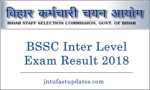 BSSC Inter Level exam Result 2018