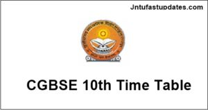 CGBSE-10th-Time-Table-2019