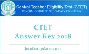 CTET Answer Key 2018