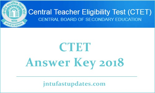 CTET Answer Key 2018
