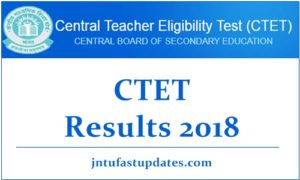 CTET Result 2018