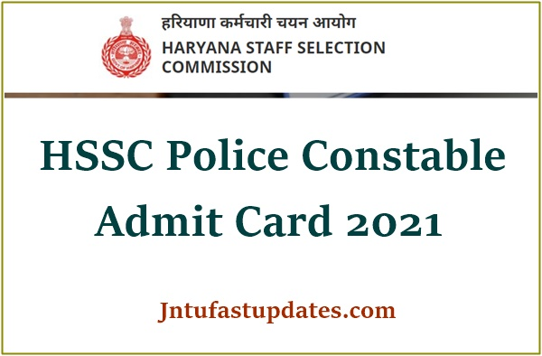 Haryana Police Constable Admit Card 2021