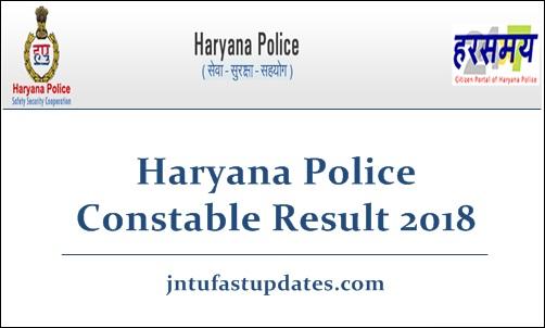 Haryana Police Constable Result 2018