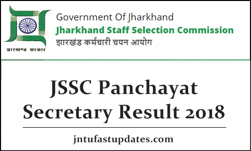 JSSC Panchayat Secretary Result 2018