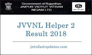 JVVNL Helper 2 Results 2018