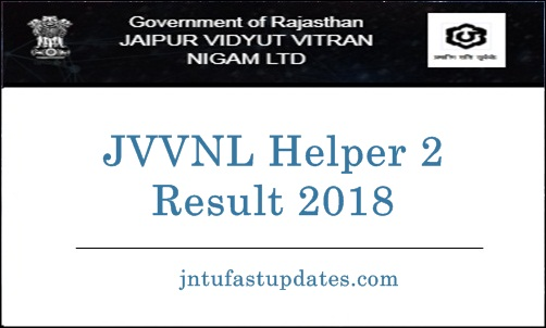 JVVNL Helper 2 Results 2018