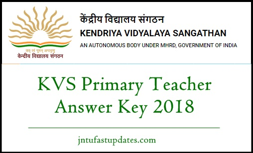 KVS Primary Teacher Answer Key 2018