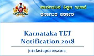 Karnataka TET Notification 2018