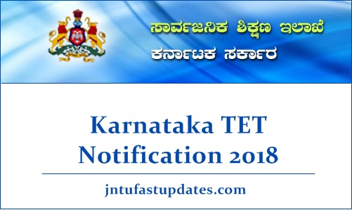 Karnataka TET Notification 2018