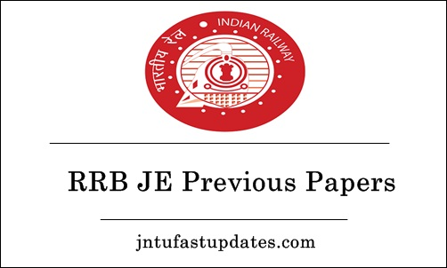 RRB JE Previous Papers