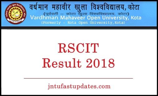 RSCIT Result 2018