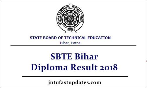 SBTE Bihar Diploma Result 2018